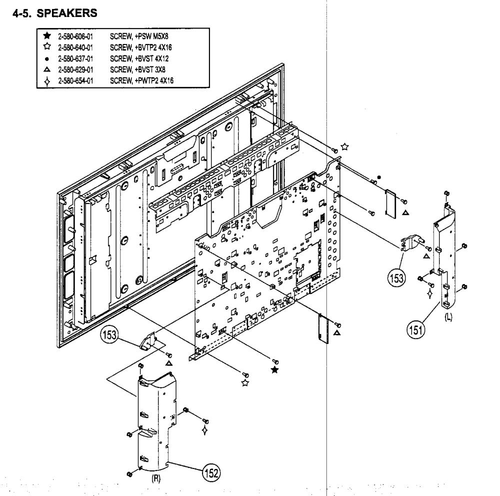 medium resolution of sony kdl 52xbr2 speakers diagram