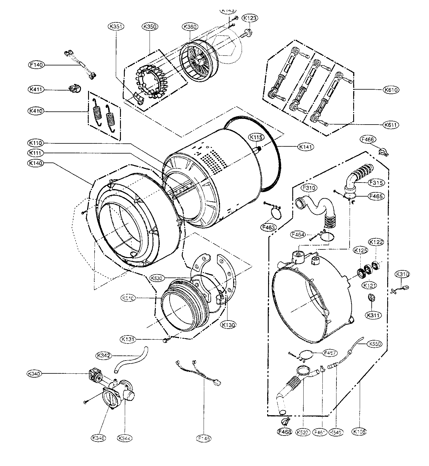 lg front load washer parts diagram double pole relay wiring washers