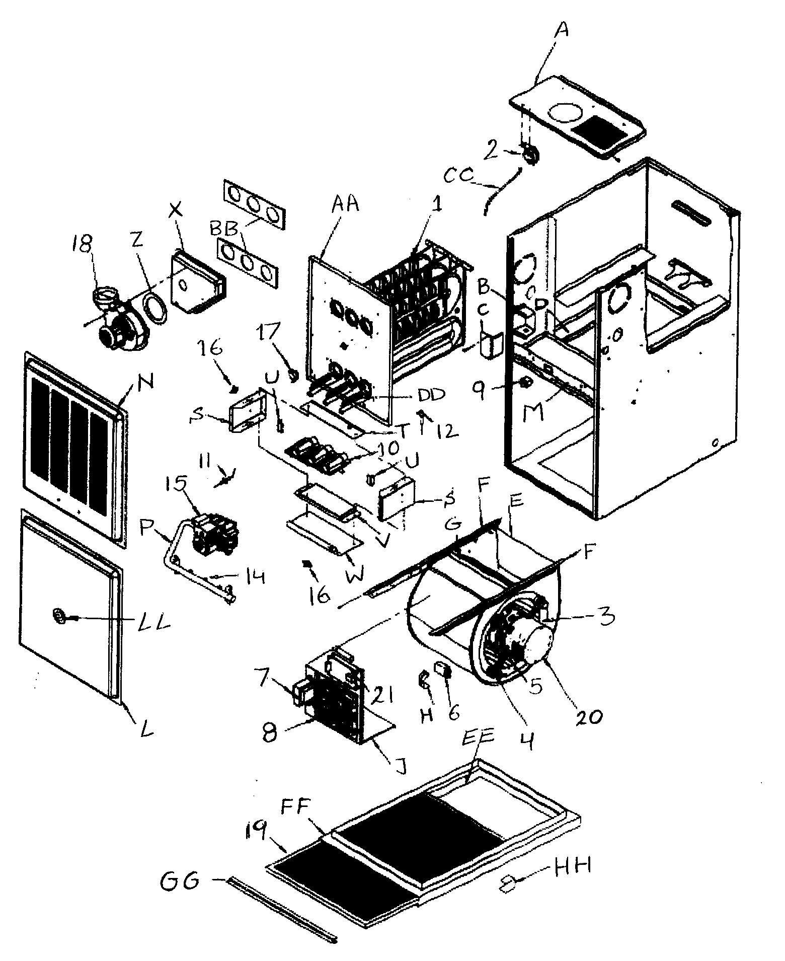 hight resolution of icp c8mpv075f14c1 cabinet parts diagram