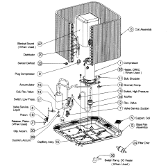Trane Heat Pump Parts Diagram Labeled Of The Hand Icp Model T4h442gkb100 Sears Partsdirect