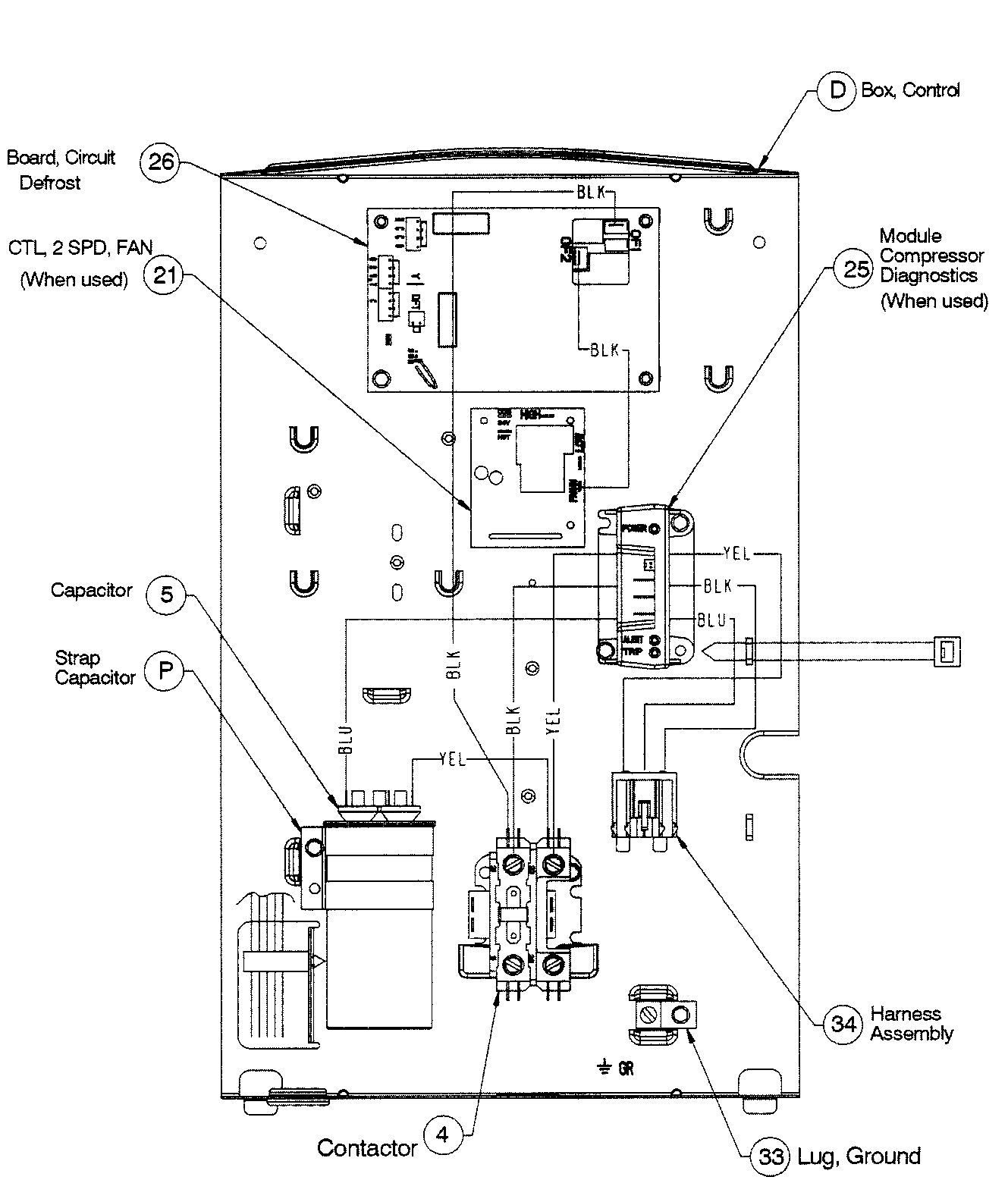 CONTROL BOARD Diagram & Parts List for Model T4H460GKB100