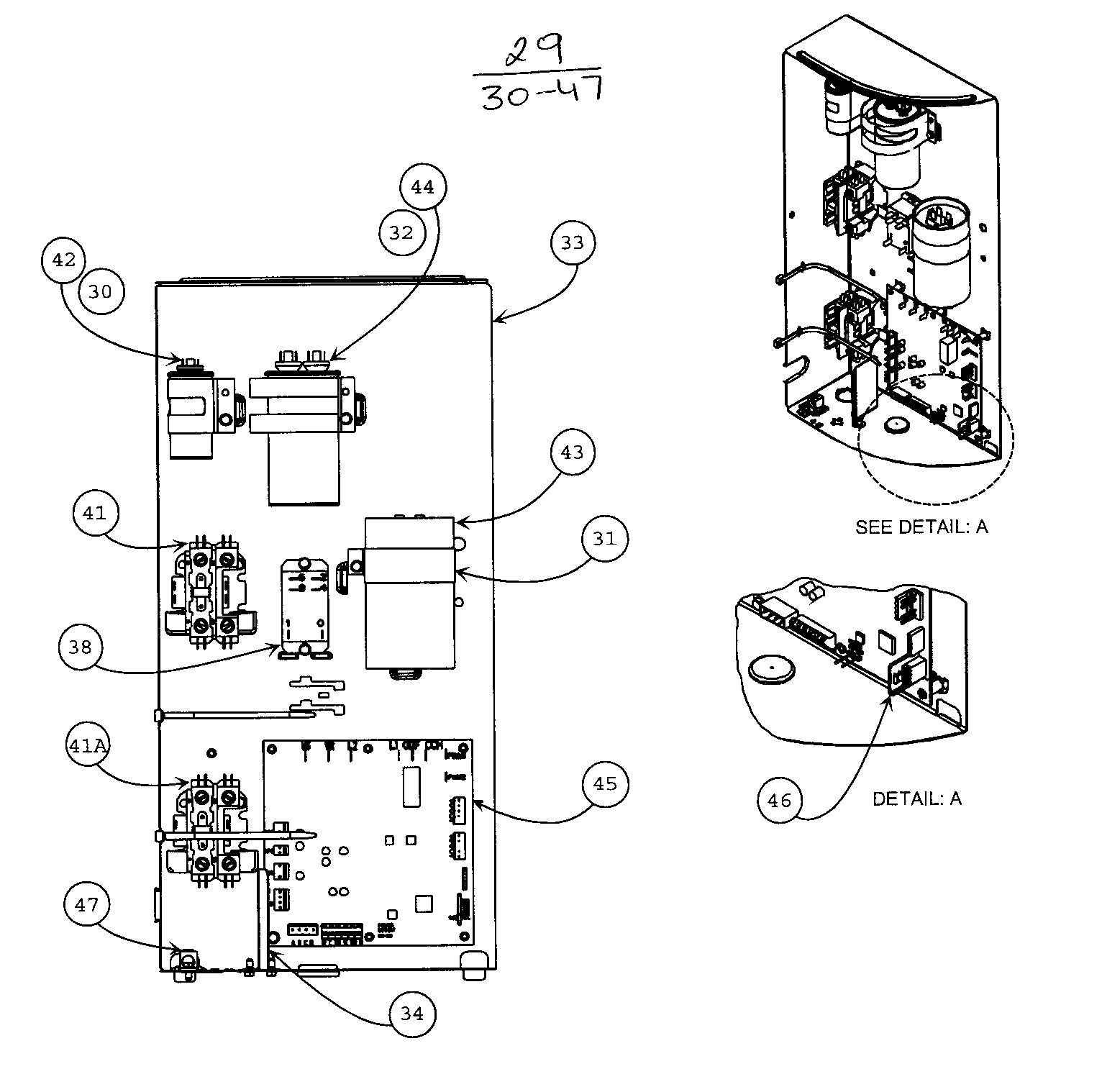 CONTROL PANEL Diagram & Parts List for Model