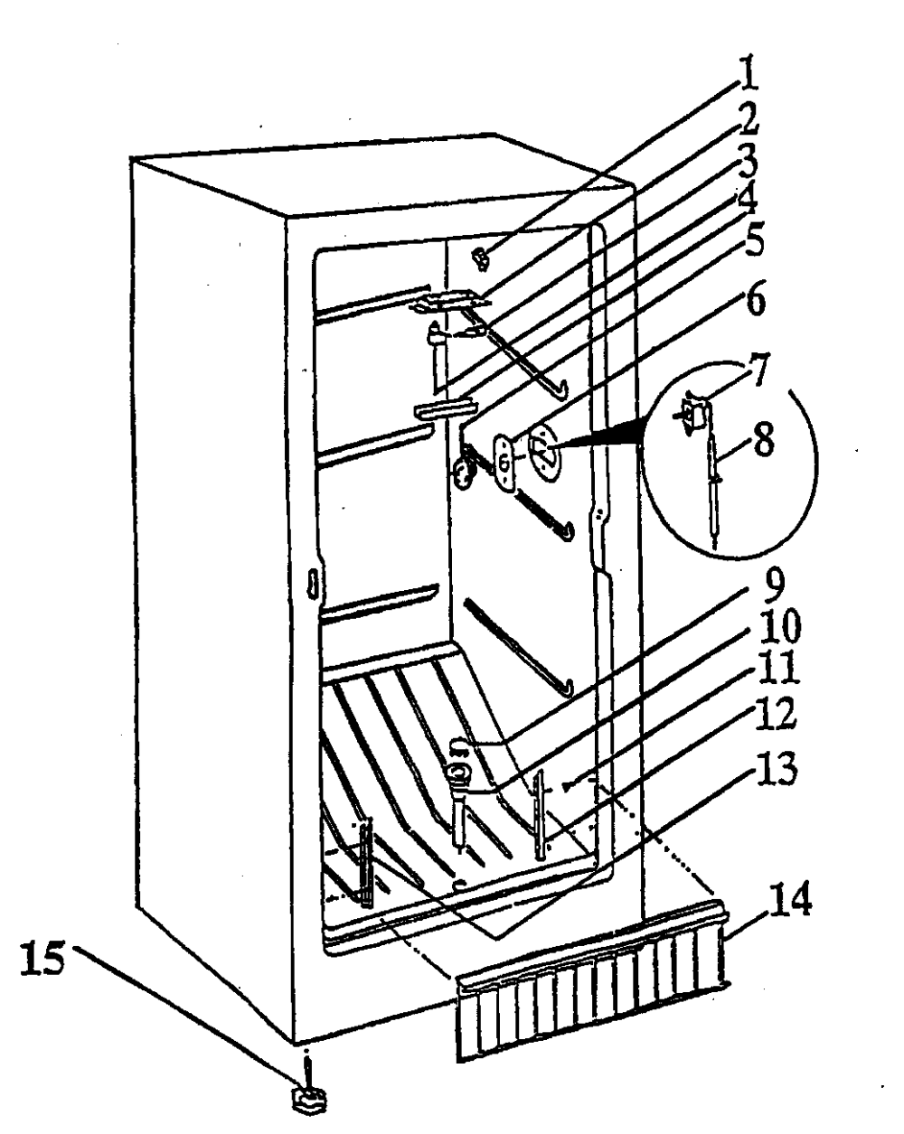 medium resolution of wc wood v07naa freezer compartment diagram