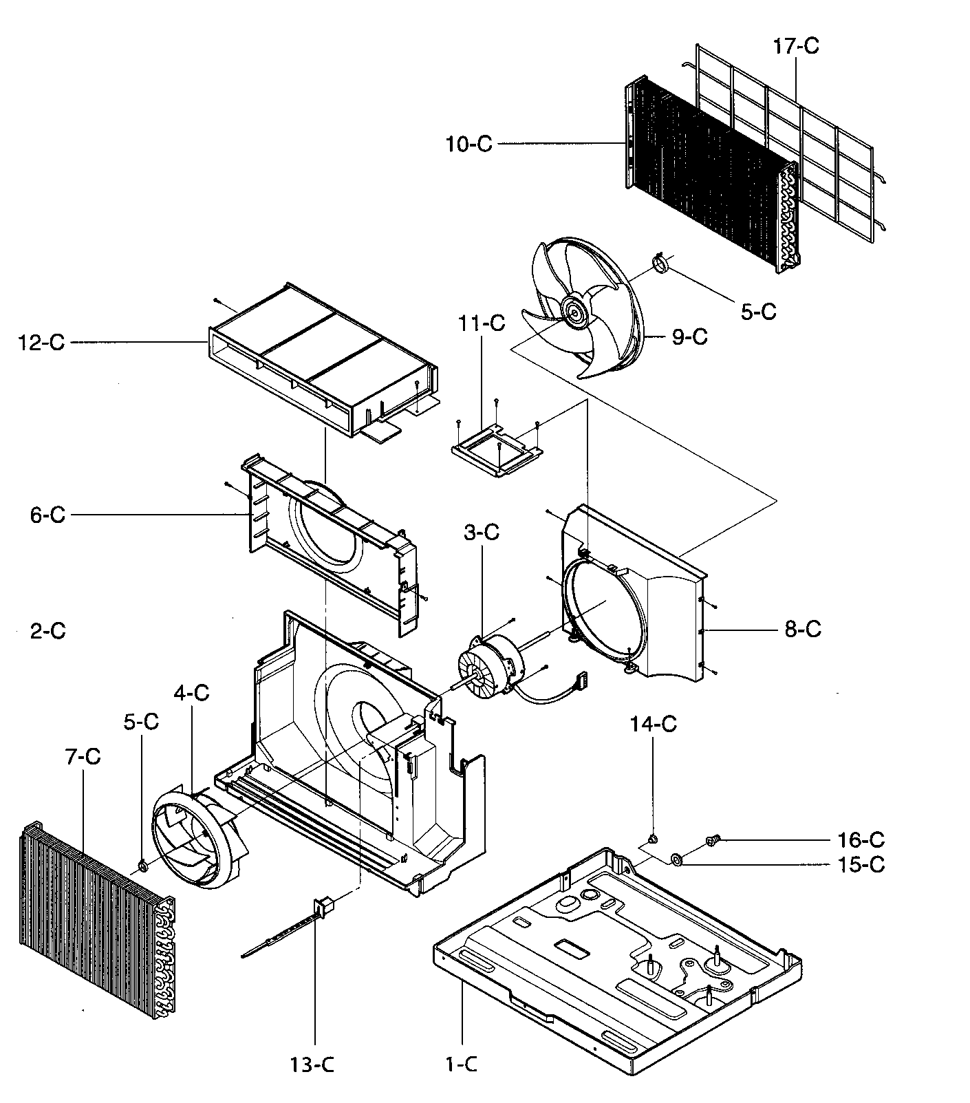 AIR HANDLING/CYCLE PARTS Diagram & Parts List for Model