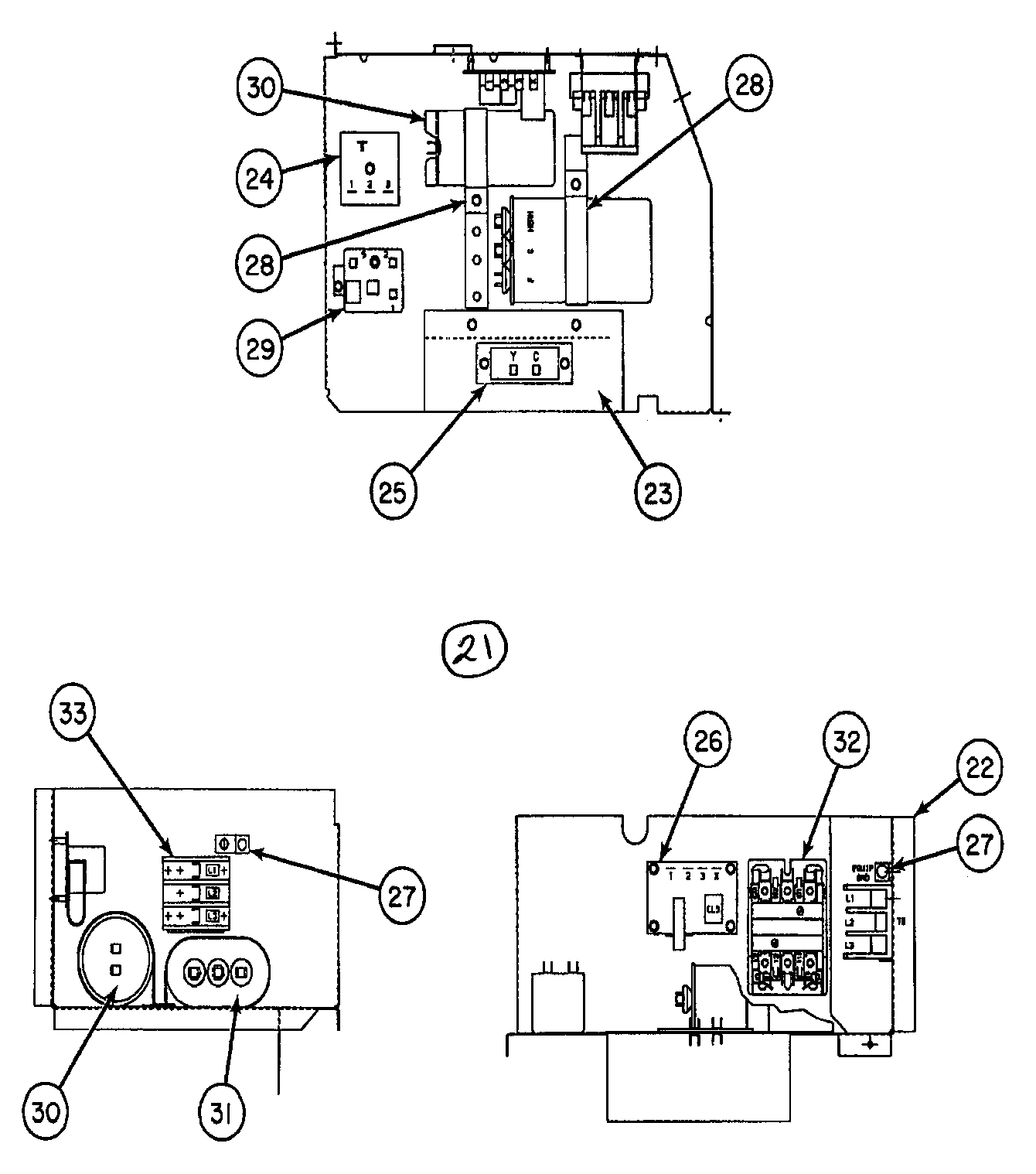 CONTROL PANEL Diagram & Parts List for Model 38hdc036320
