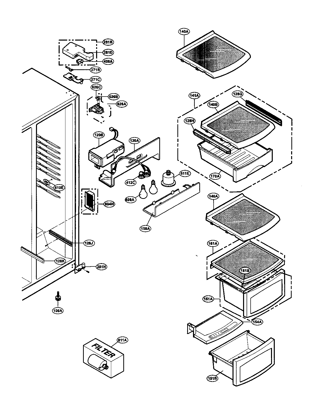 Refrigerator Parts: Lg Refrigerator Parts Diagram