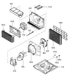 kenmore 58075281700 air handling cycle parts diagram [ 1412 x 1521 Pixel ]