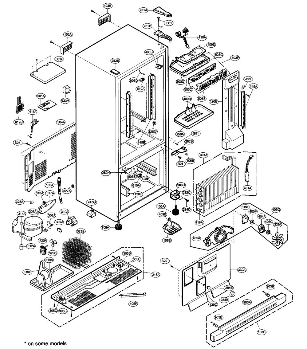 medium resolution of lg model lbn22515sb 00 bottom mount refrigerator genuine parts lg refrigerator diagram lfx25971sb lg refrigerator diagrams