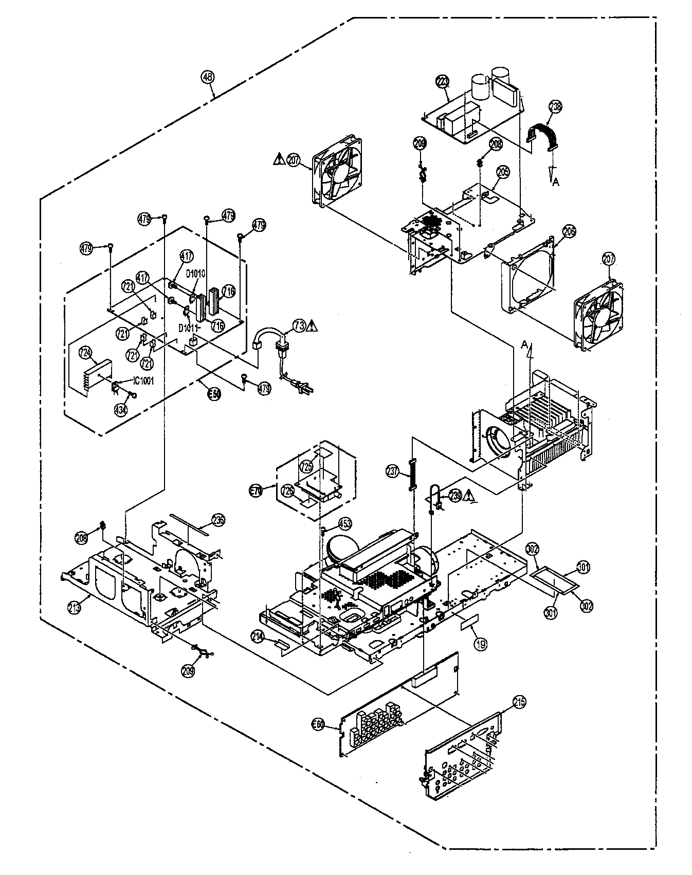 LIGHT ENGINE Diagram & Parts List for Model PT56LCZ7