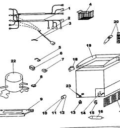 looking for danby model dcf401w chest freezer repair replacement danby freezer wiring diagram [ 1106 x 966 Pixel ]