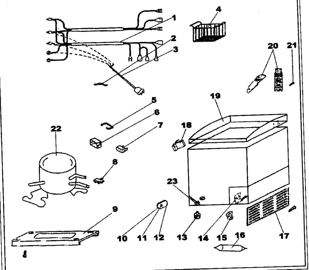 medium resolution of looking for danby model dcf401w chest freezer repair replacement danby freezer wiring diagram