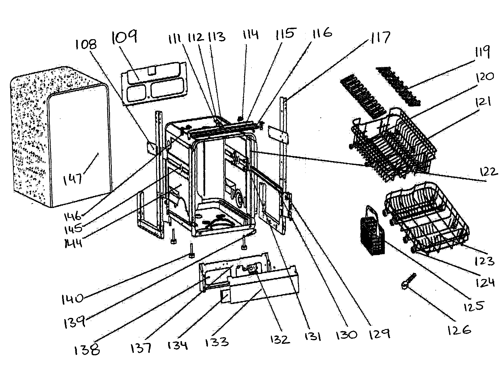 hight resolution of danby ddw2406bls cabinet parts diagram