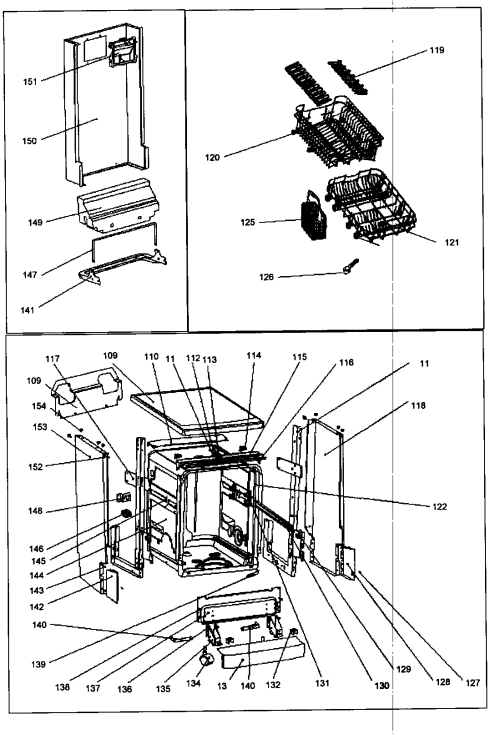 small resolution of danby ddw1805w cabinet parts diagram