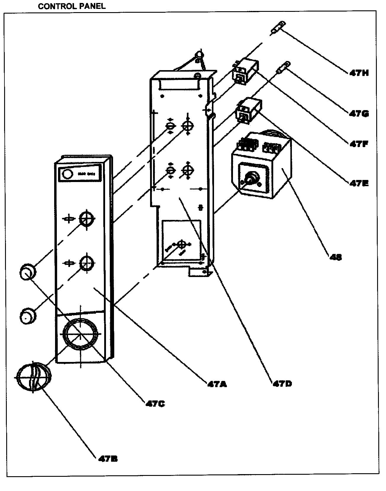 CONTROL PANEL Diagram & Parts List for Model ddw396w Danby
