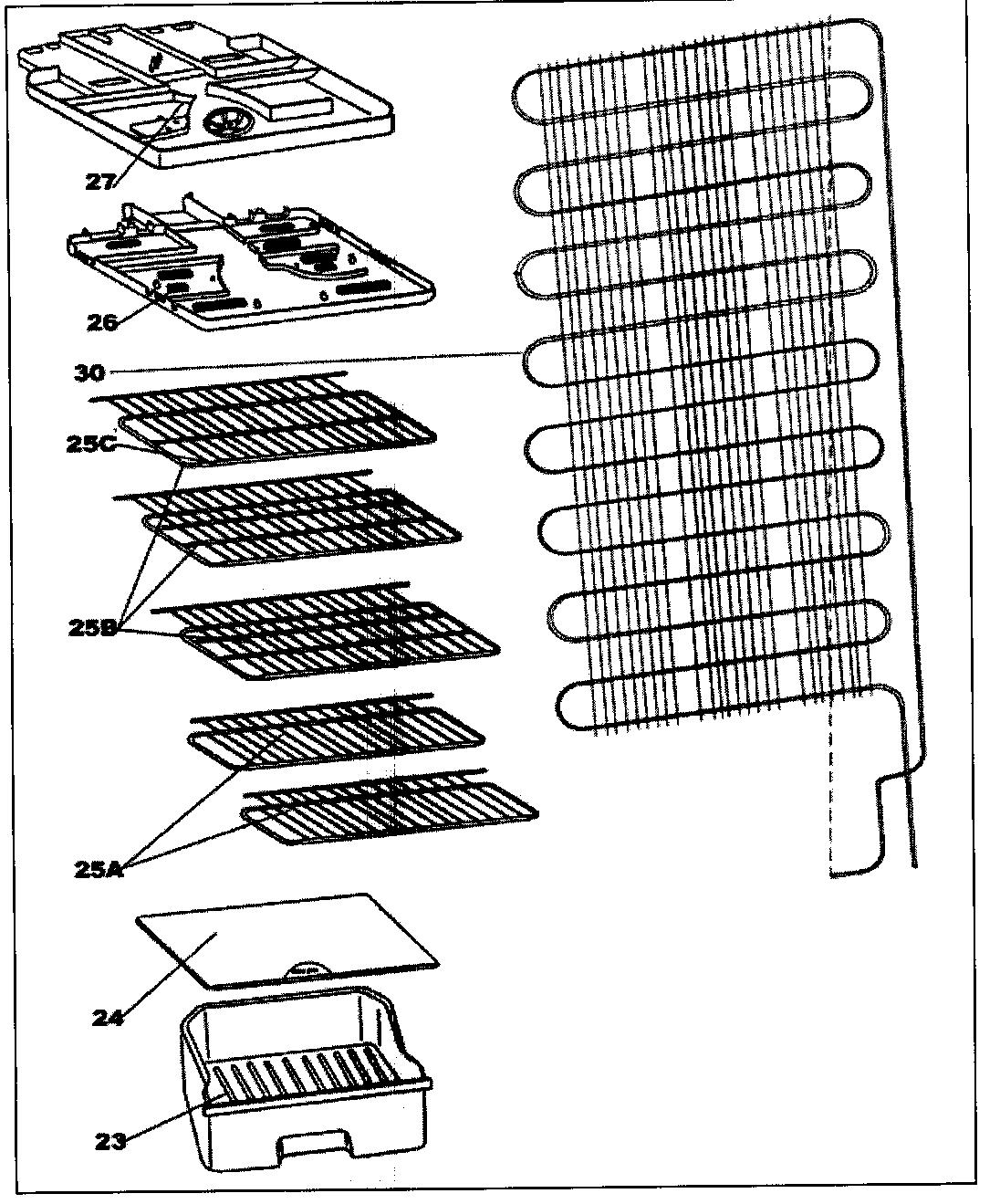 ACCESSORIES Diagram & Parts List for Model dff8801w Danby