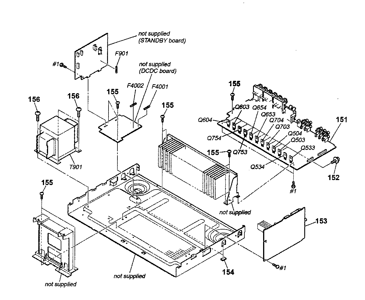 CHASSIS Diagram & Parts List for Model STR-DG710 Sony