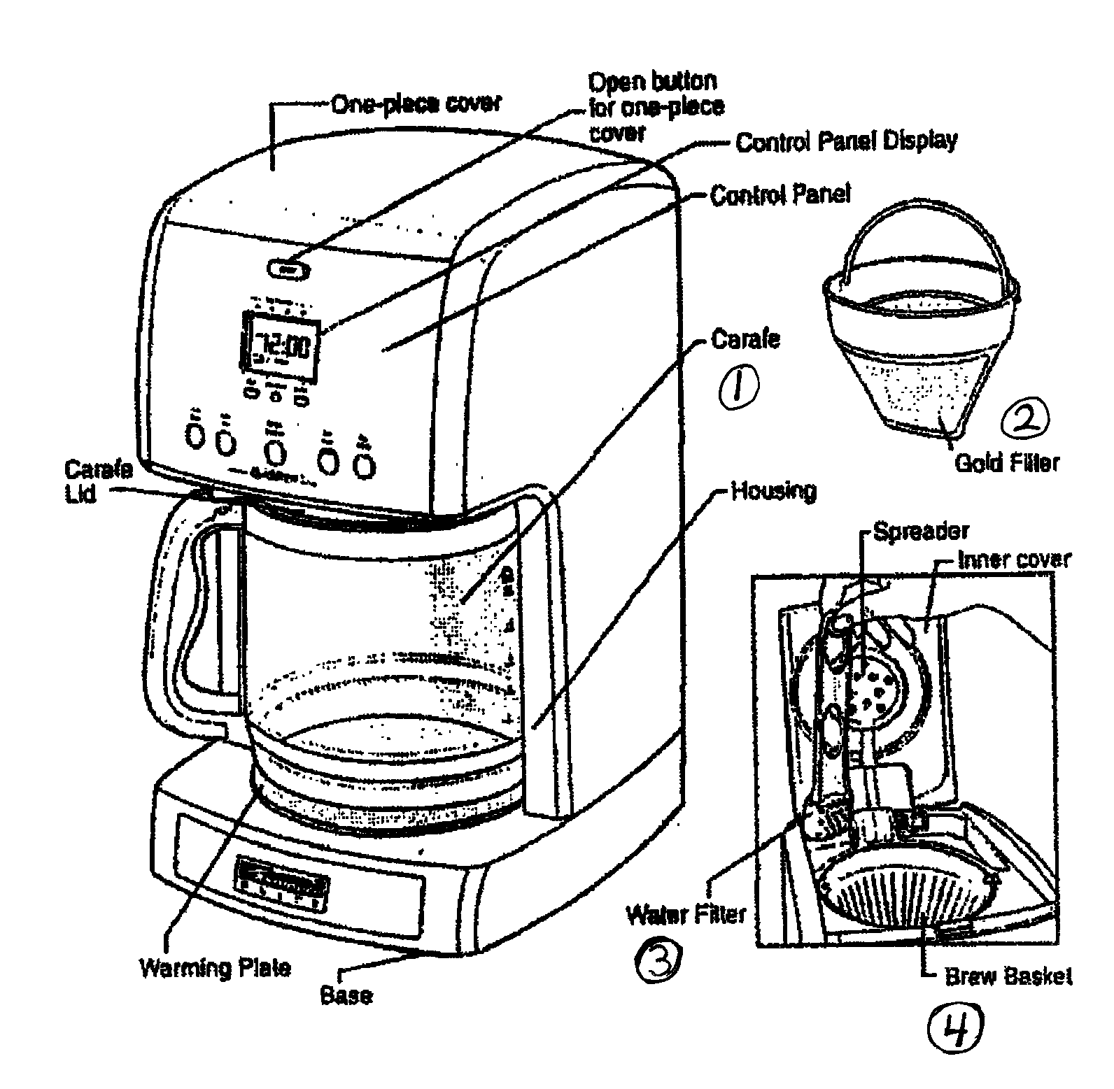 hight resolution of kenmore elite 10090006 coffee maker diagram