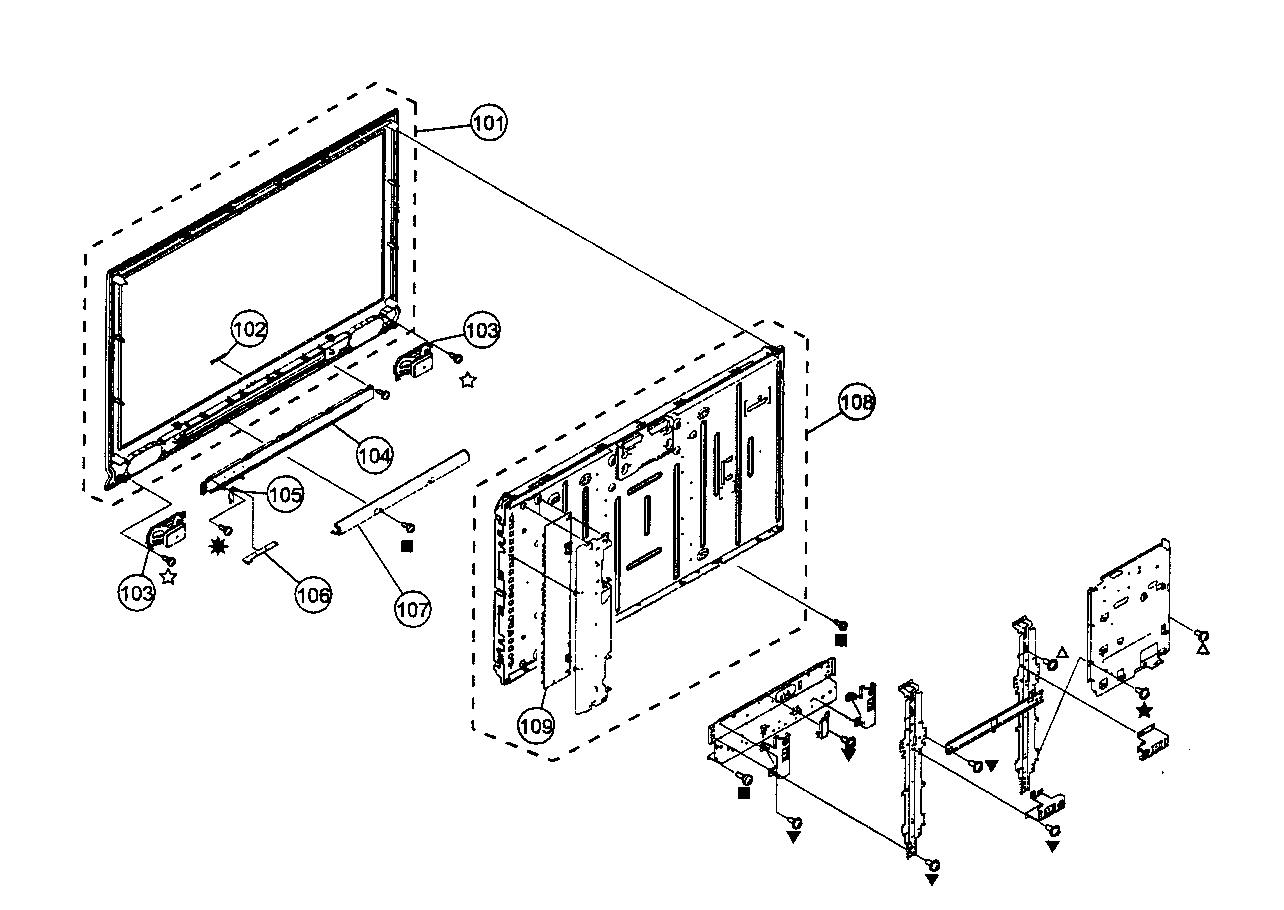 BEZEL/LCD PANEL ASSY Diagram & Parts List for Model