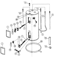 Kenmore Electric Water Heater Wiring Diagram Dball2 Aosmith Parts Model Ecrt52 Sears Partsdirect