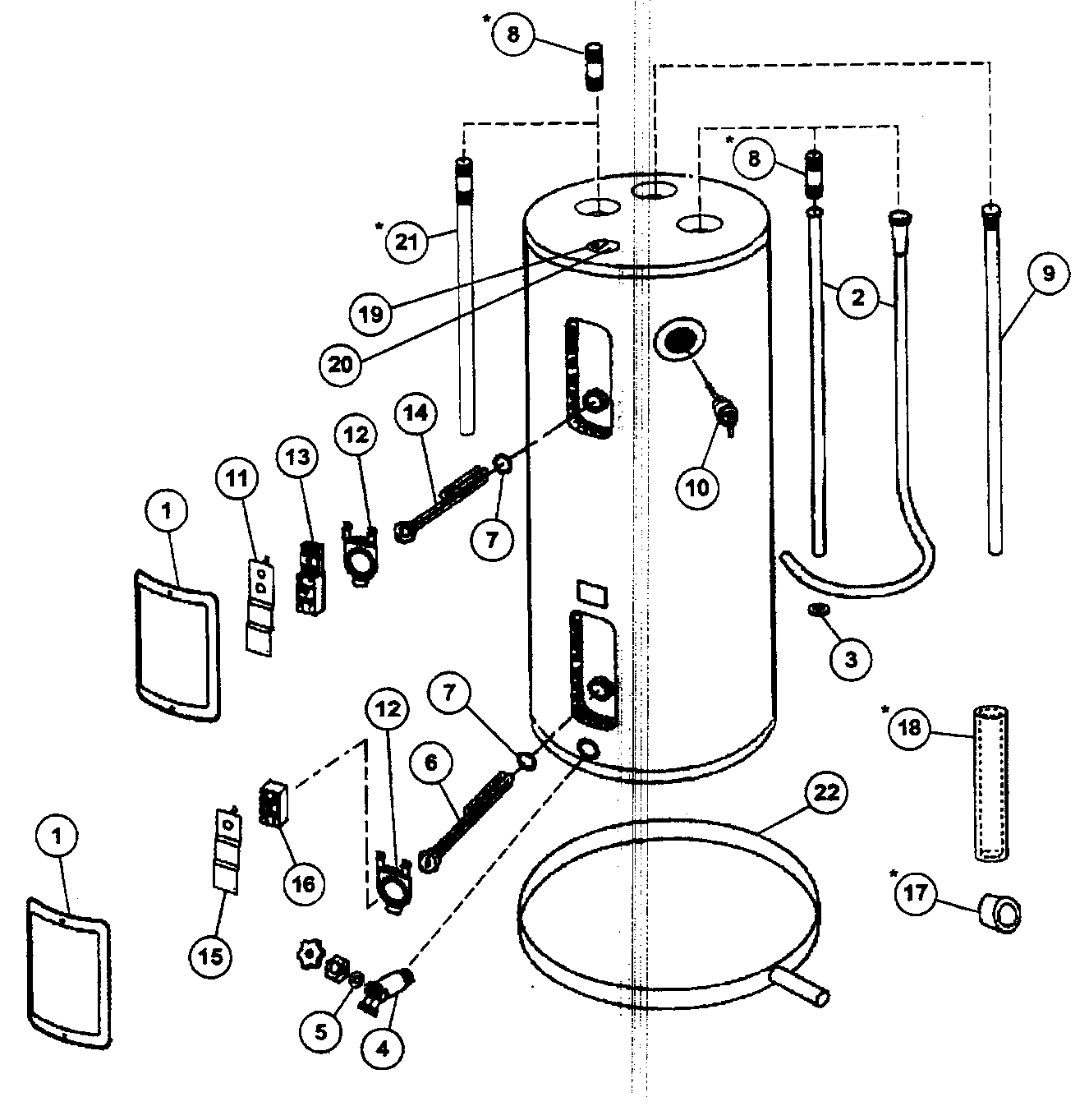 hot water system wiring diagram for dual 4 ohm subwoofer camco heater thermostat