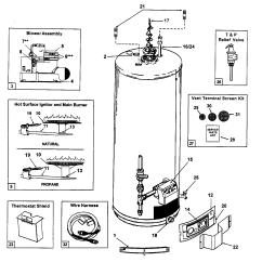 Ao Smith Wiring Diagram Water Heater Math Fraction Aosmith Parts Model Gpvh40101