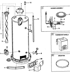 looking for ao smith model gvr40 gas water heater repair rheem gas water heater parts diagram [ 1435 x 1294 Pixel ]