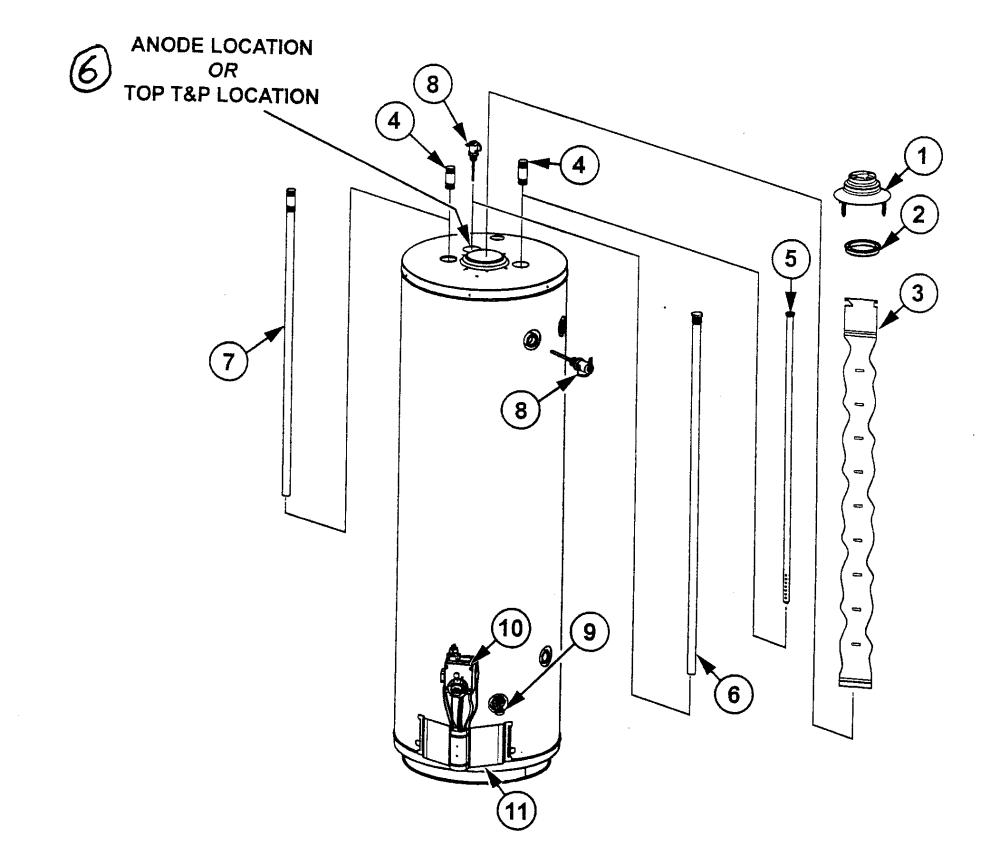 medium resolution of state model gs650ybrt200 water heater gas genuine parts rh searspartsdirect com state select hot water heater elements state select hot water heater status