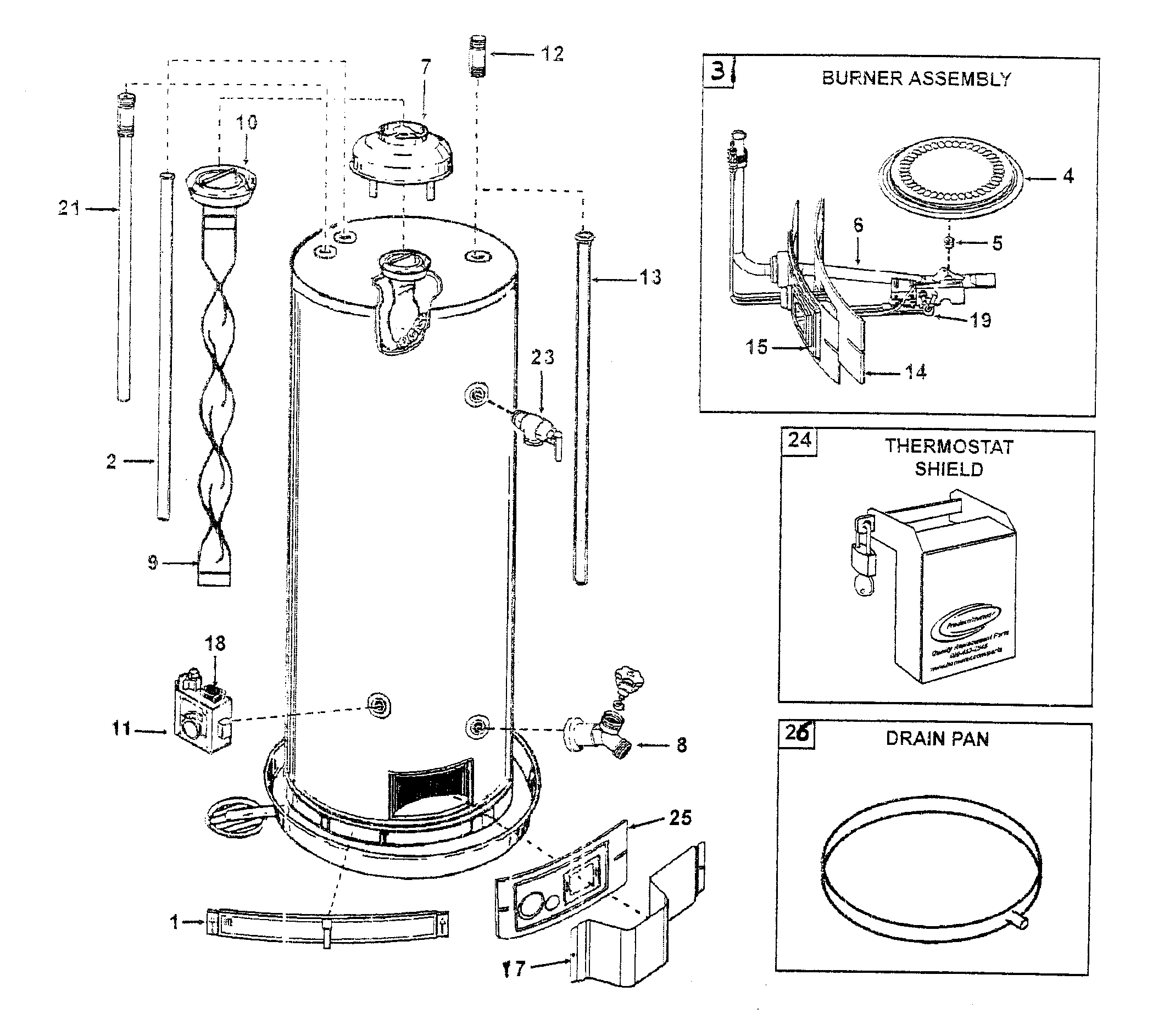 sears water heater wiring diagram