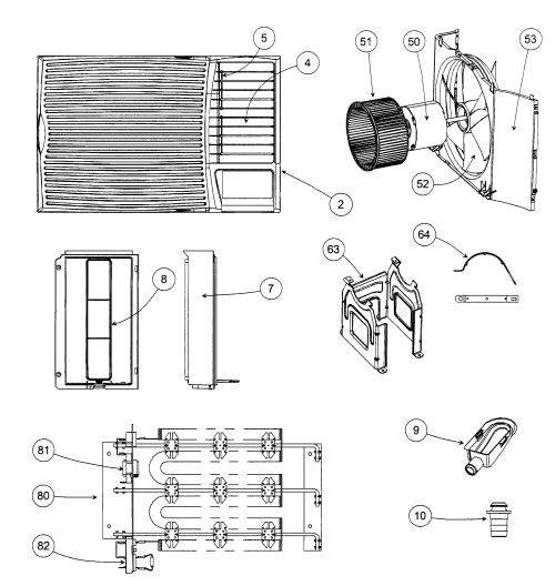 small resolution of carrier zqa315301rb cabinet parts 2 diagram