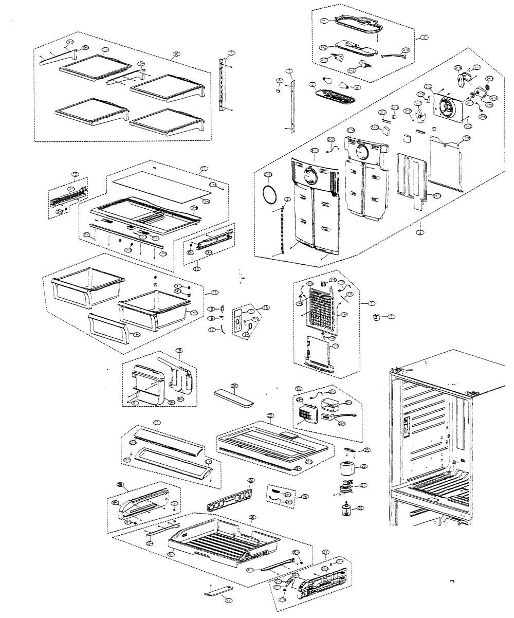 medium resolution of samsung model rf266abpn xaa bottom mount refrigerator genuine parts rh searspartsdirect com samsung refrigerator parts diagram