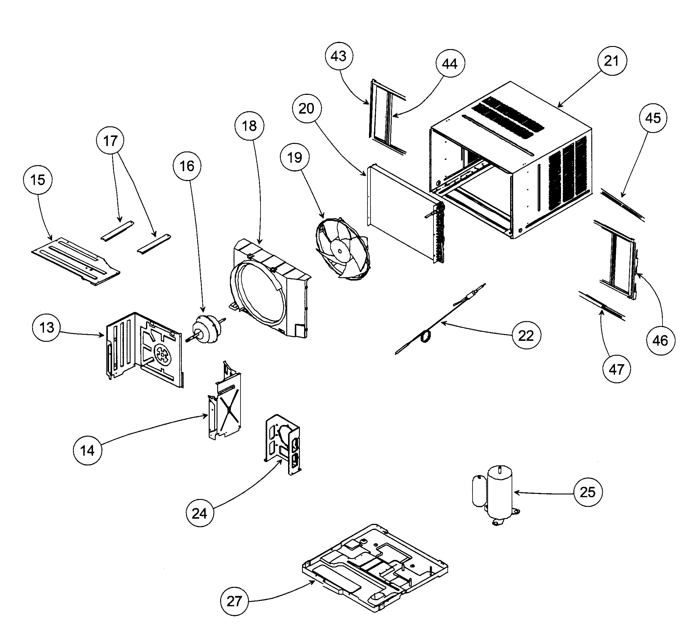 Air Conditioning Unit: Air Conditioning Unit Parts Diagram