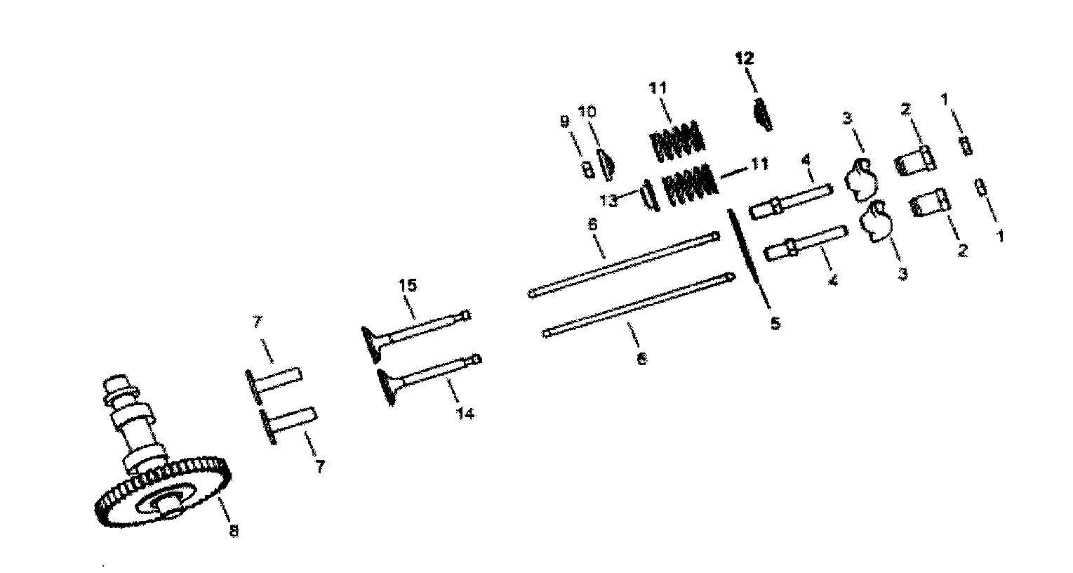 VALVES ASSY Diagram & Parts List for Model apg3009 All