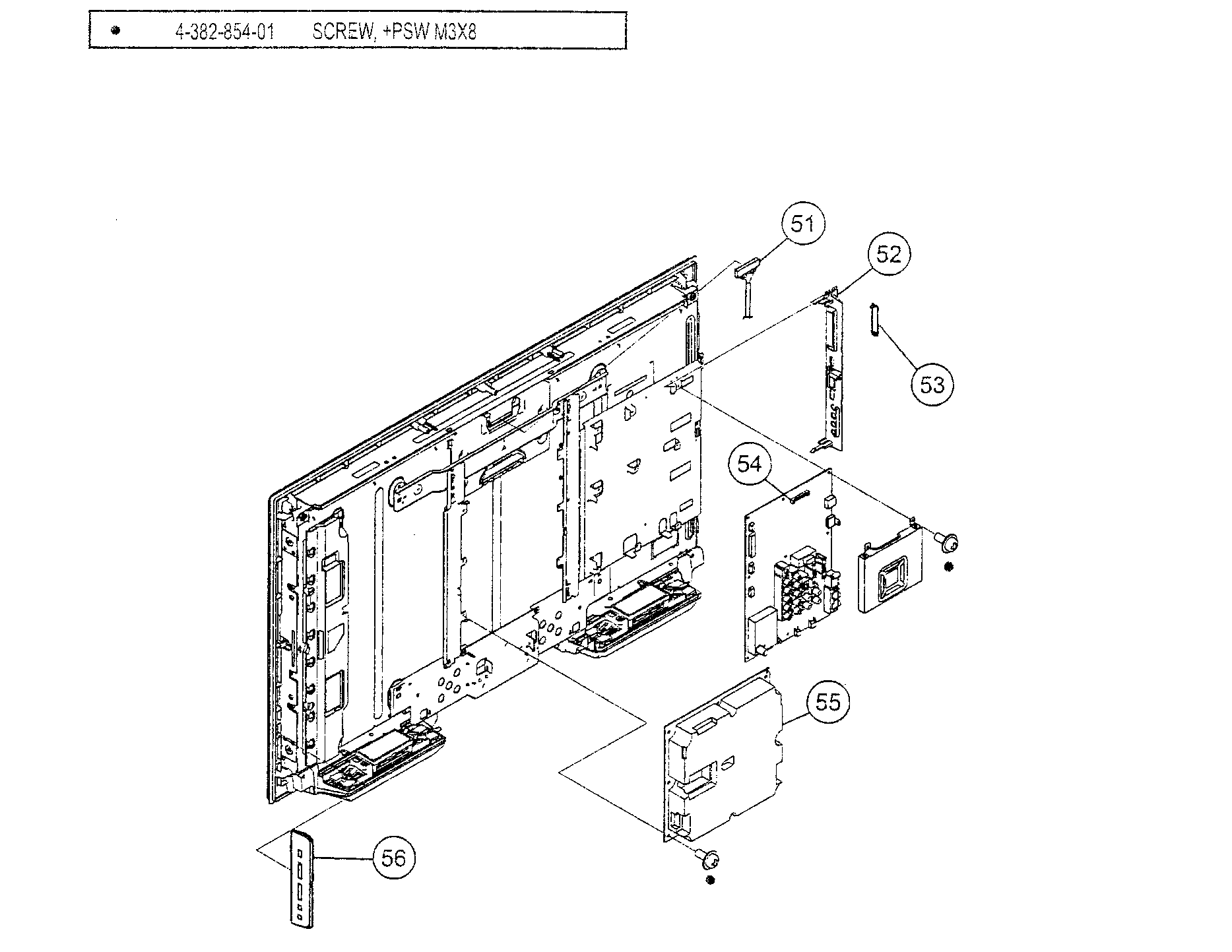 CHASSIS ASSY Diagram & Parts List for Model kdl32l5000