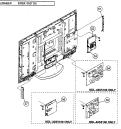 sony model kdl 46s5100 lcd television genuine parts sony tv spec sheet sony tv parts diagram [ 1813 x 1641 Pixel ]