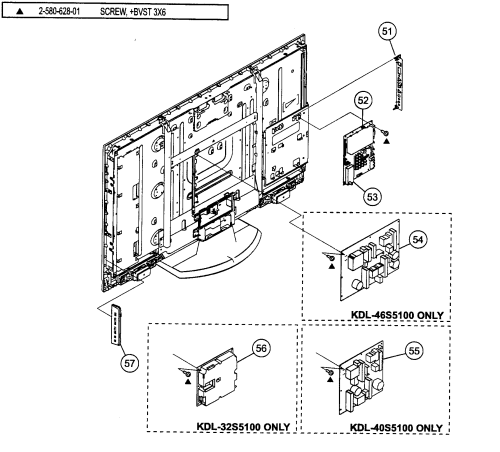 small resolution of sony model kdl 46s5100 lcd television genuine parts sony tv spec sheet sony tv parts diagram