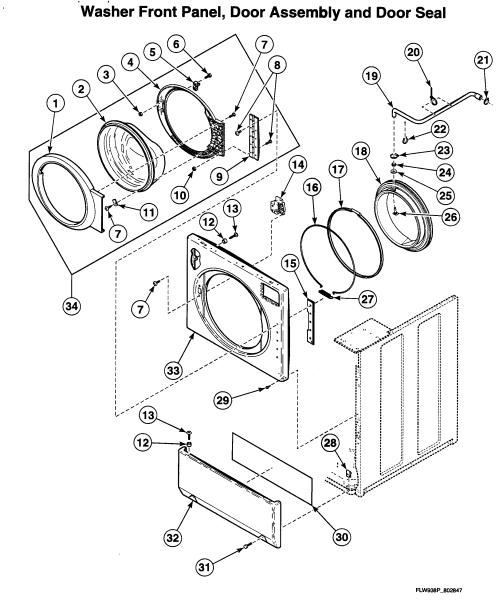 small resolution of speed queen ltsa7awn door assy diagram