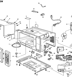 panasonic nn sd987s exploded view diagram [ 2439 x 1827 Pixel ]