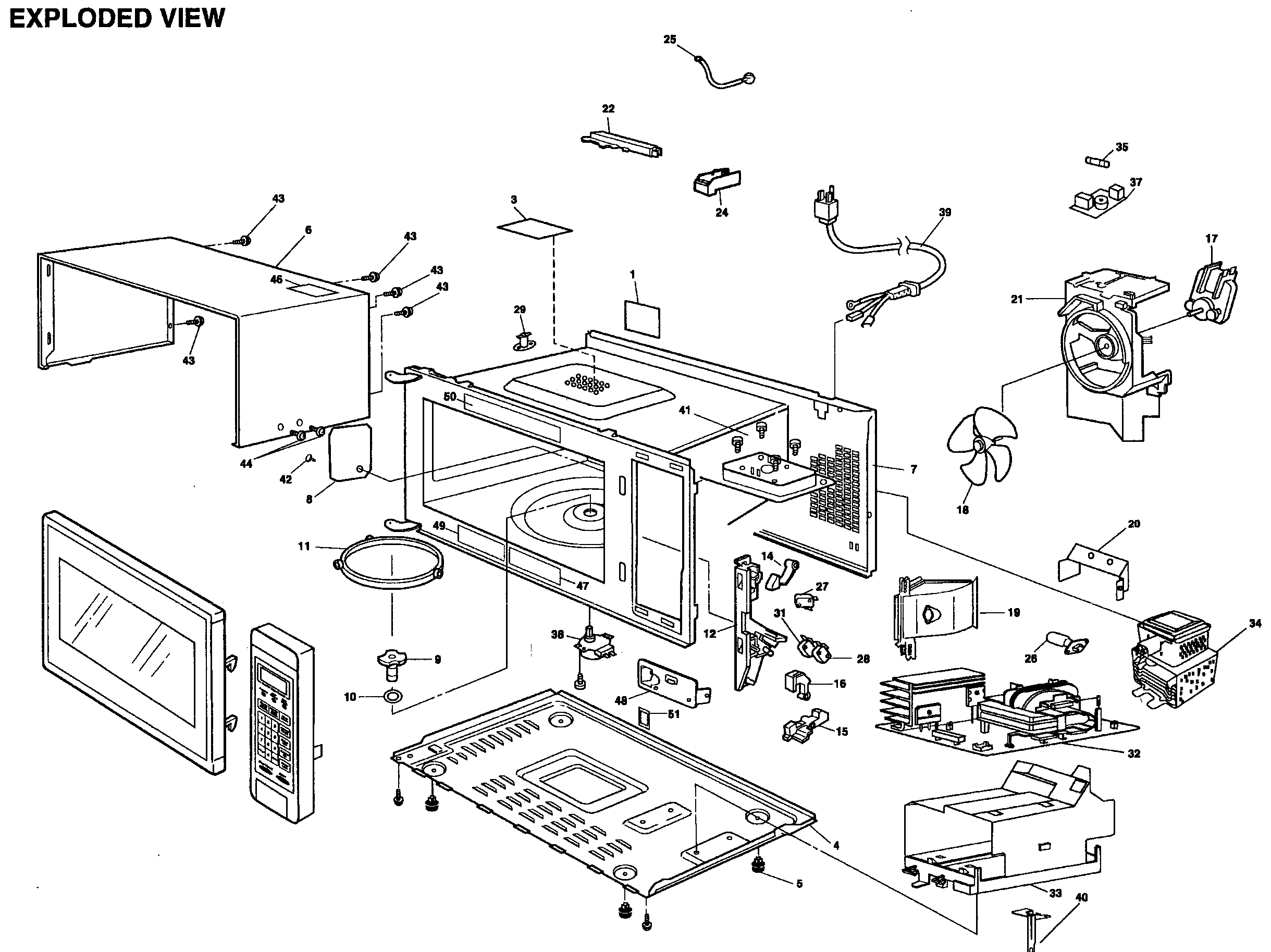 EXPLODED VIEW Diagram & Parts List for Model NNSD997S