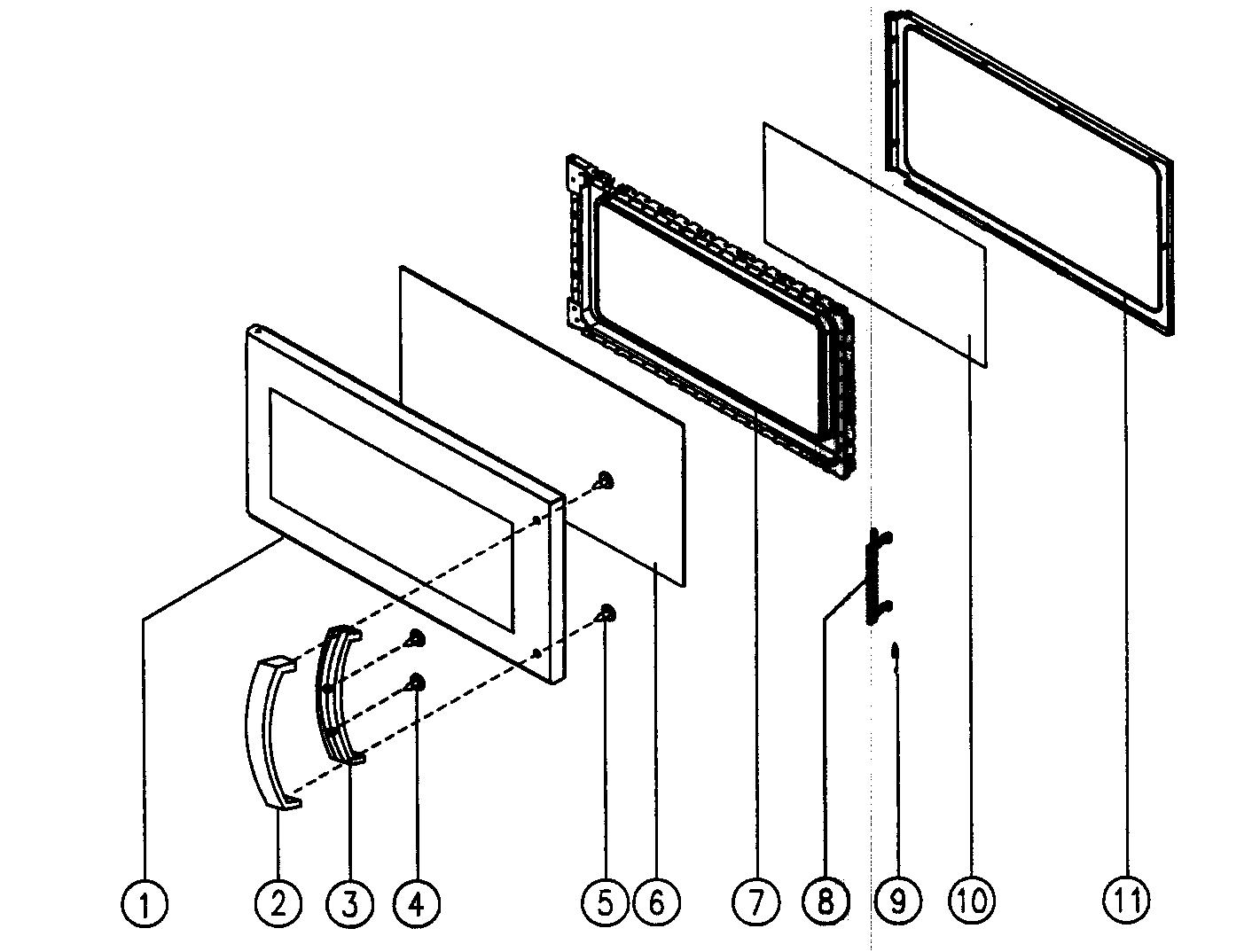 hight resolution of magic chef mco160uw door assy diagram