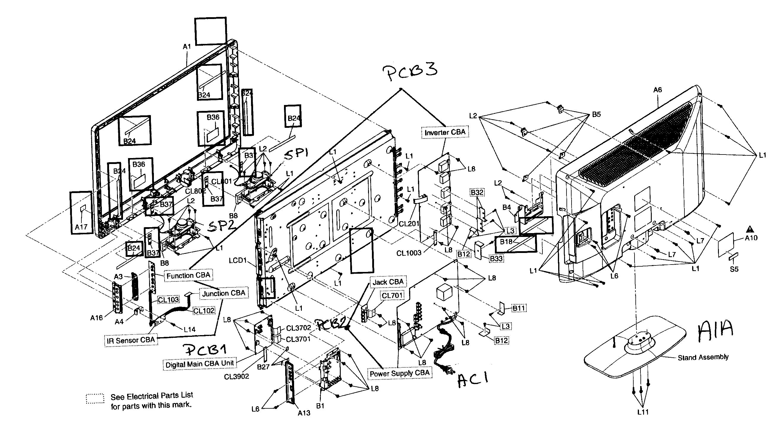 philips tv diagram