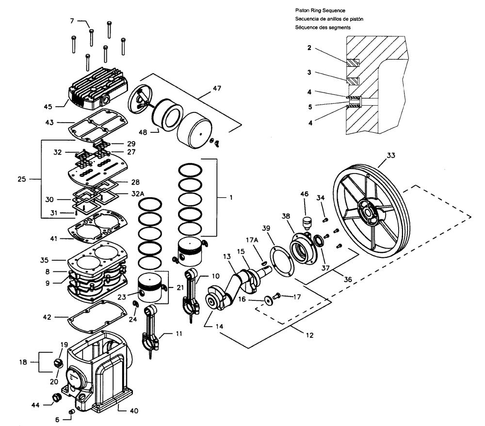 medium resolution of ingersoll rand model ss5l5 air compressor genuine parts