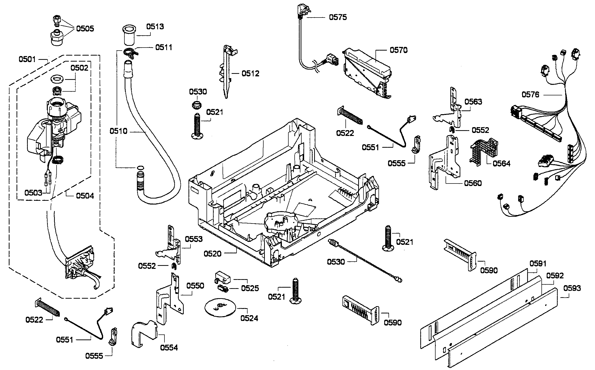 BASE ASSY Diagram & Parts List for Model she68e15uc01