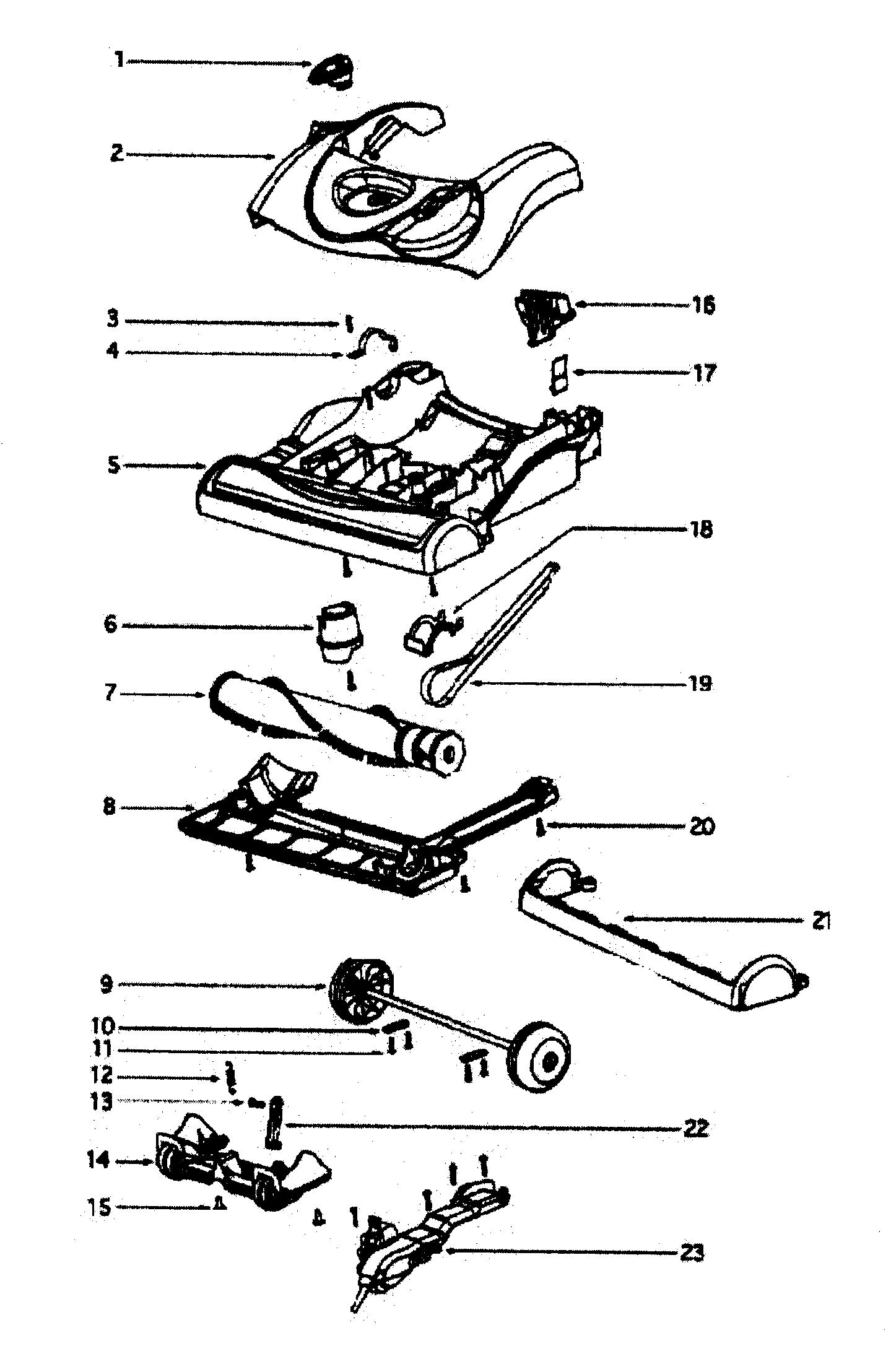 BASE ASSY Diagram & Parts List for Model 4870hz Eureka