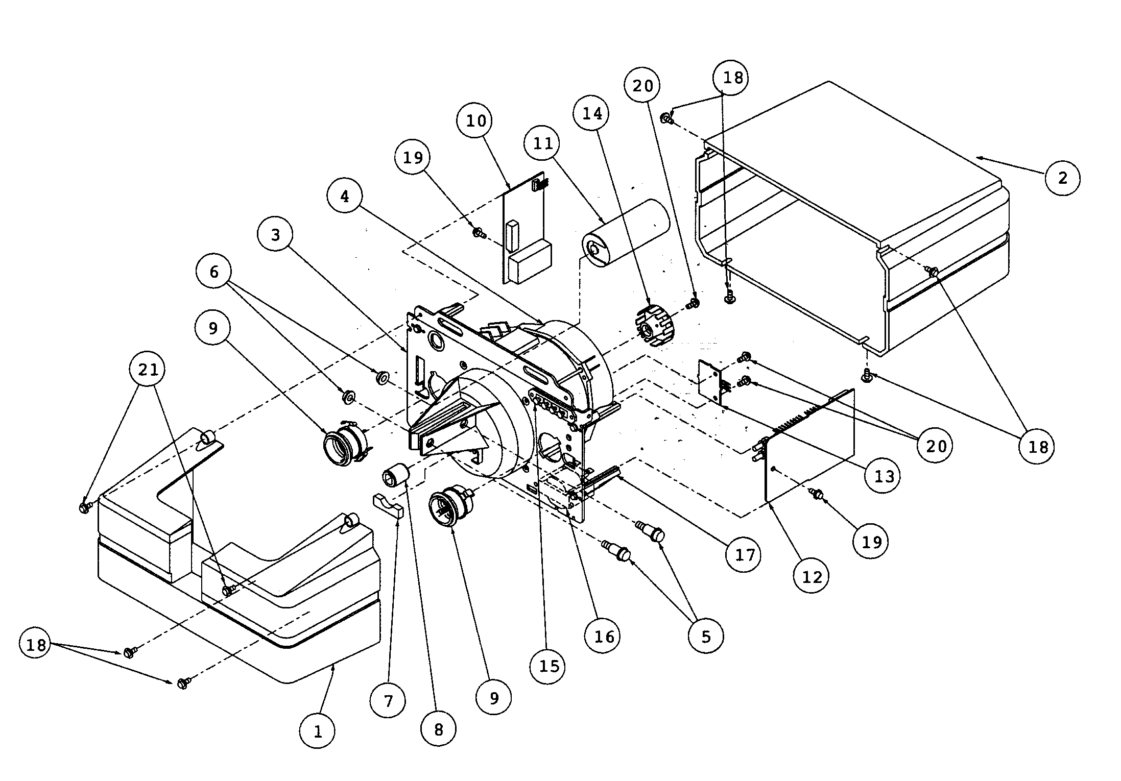MOTOR ASSY Diagram & Parts List for Model H4000 Genie