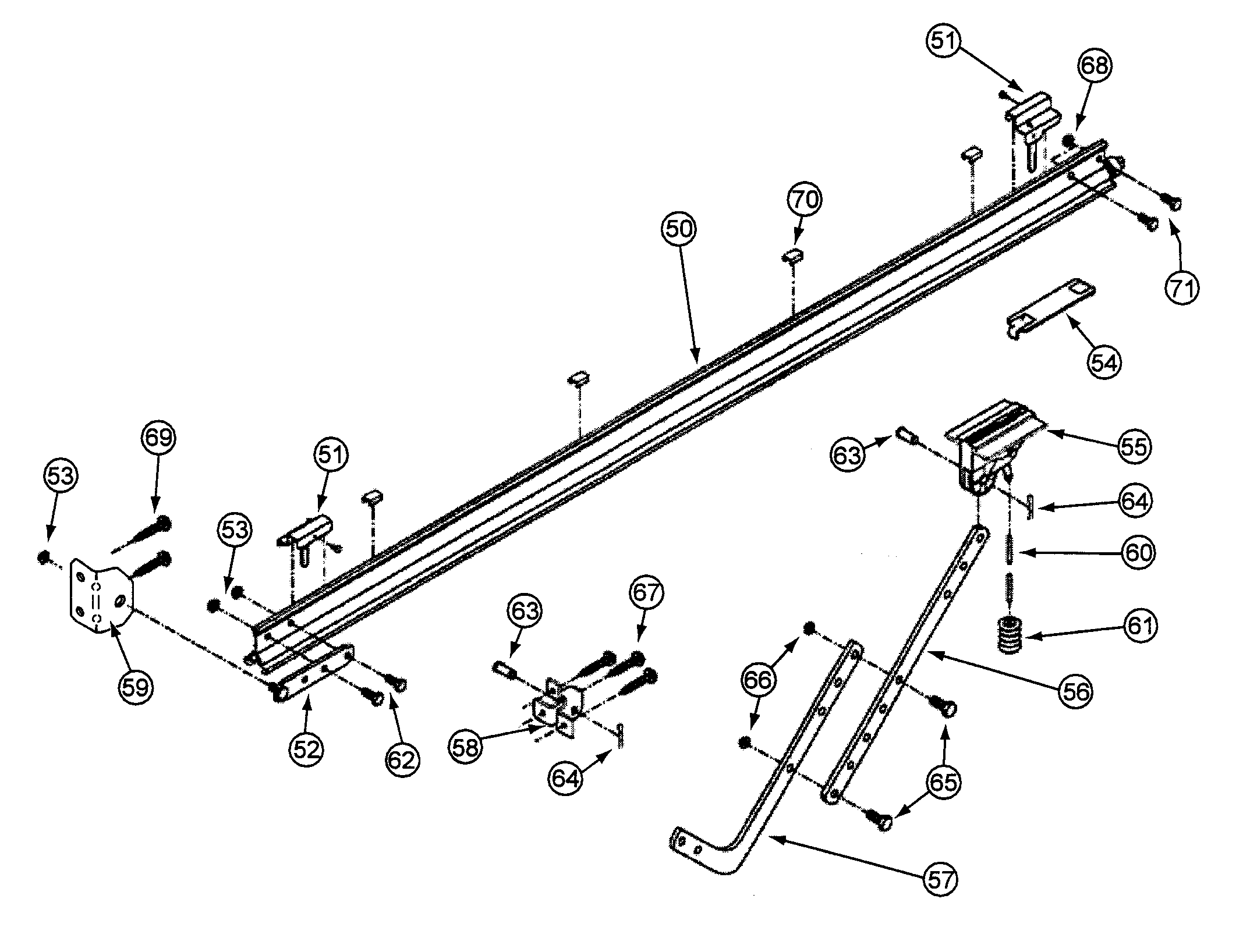 garage door opener parts diagram 1998 toyota camry exhaust system rail assy and list for model cm8600 genie