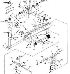craftsman 351217520 lathe diagram [ 1952 x 2518 Pixel ]