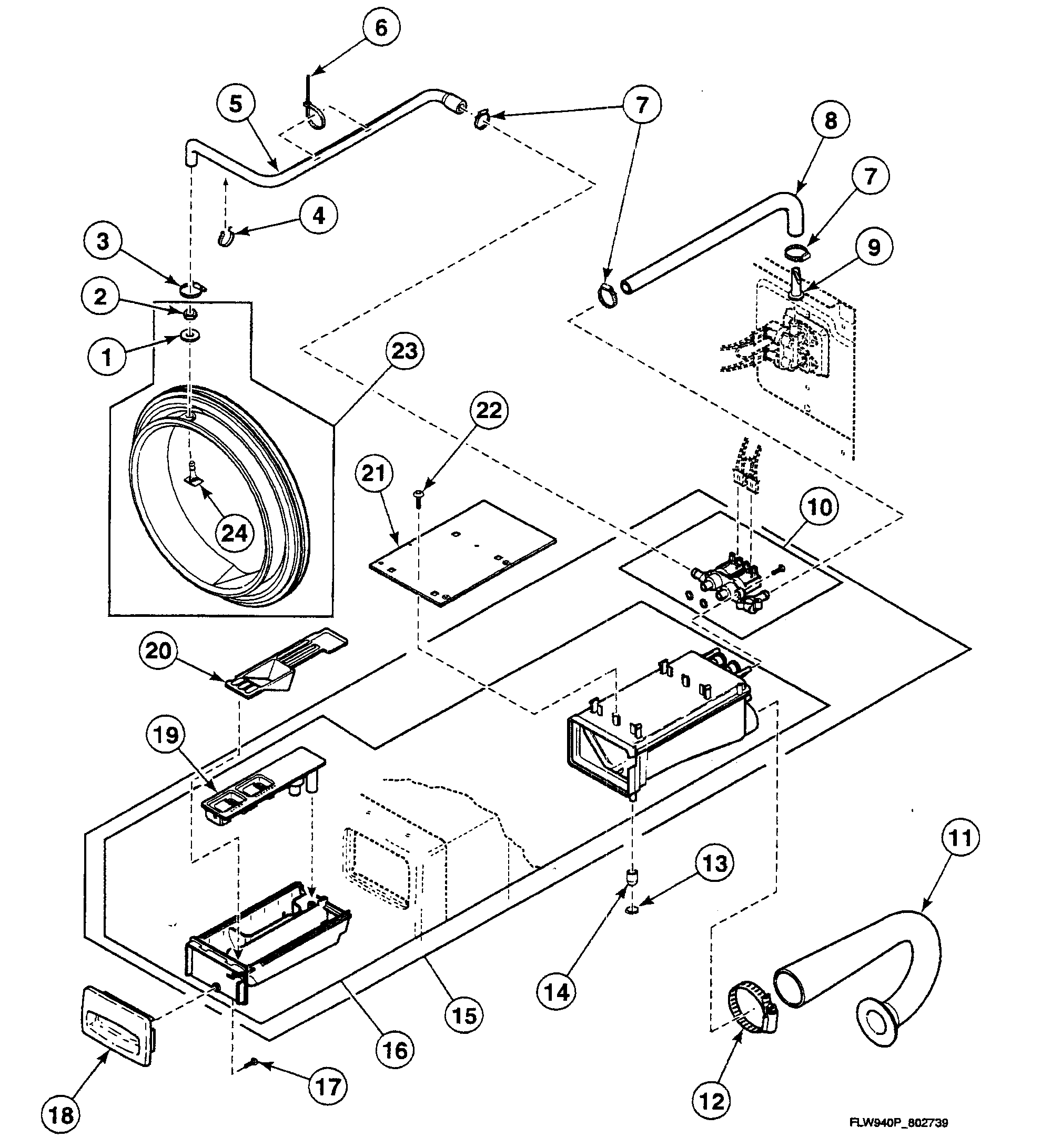 Washer Parts: Speed Queen Washer Parts Diagram
