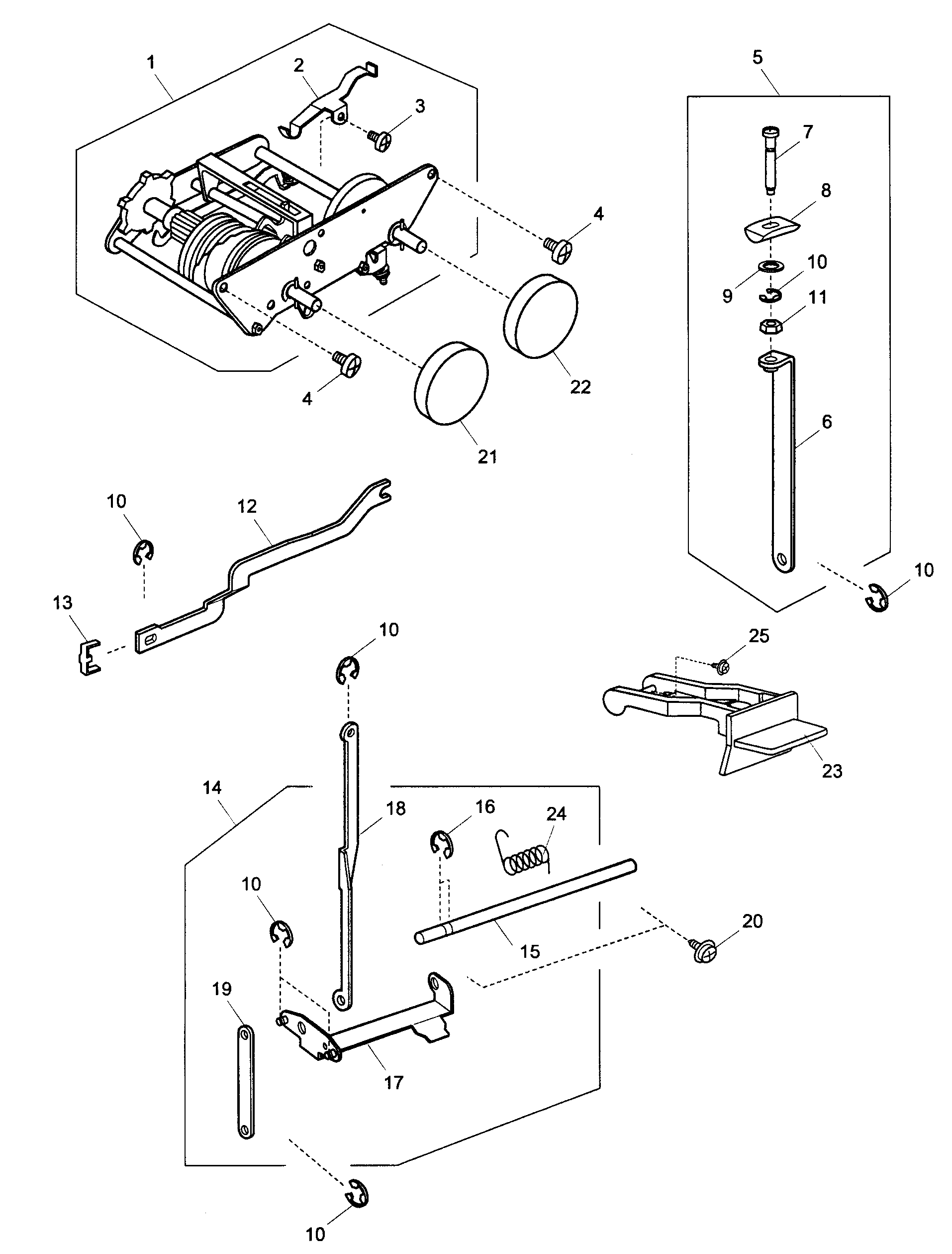 CAM BLOCK Diagram & Parts List for Model 38519112 Kenmore