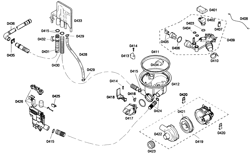 medium resolution of bosch she55m15uc 59 pump assy diagram