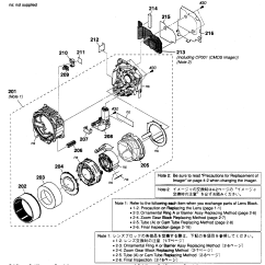 Camera Parts Diagram Race Car Alternator Wiring Lens Block And List For Model Dscwx1b Sony